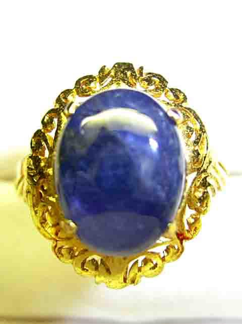 Mogocc production non-heating sapphire ring Gold22 money